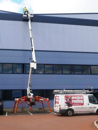 High Level Access Equipment by Alcester Roofing